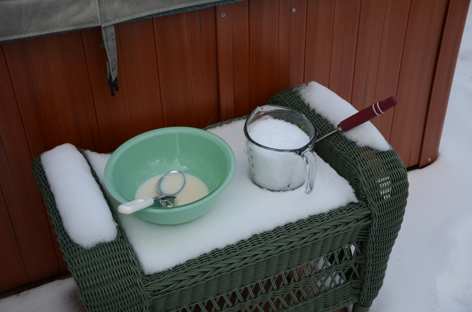 Snow Ice Cream Step #2