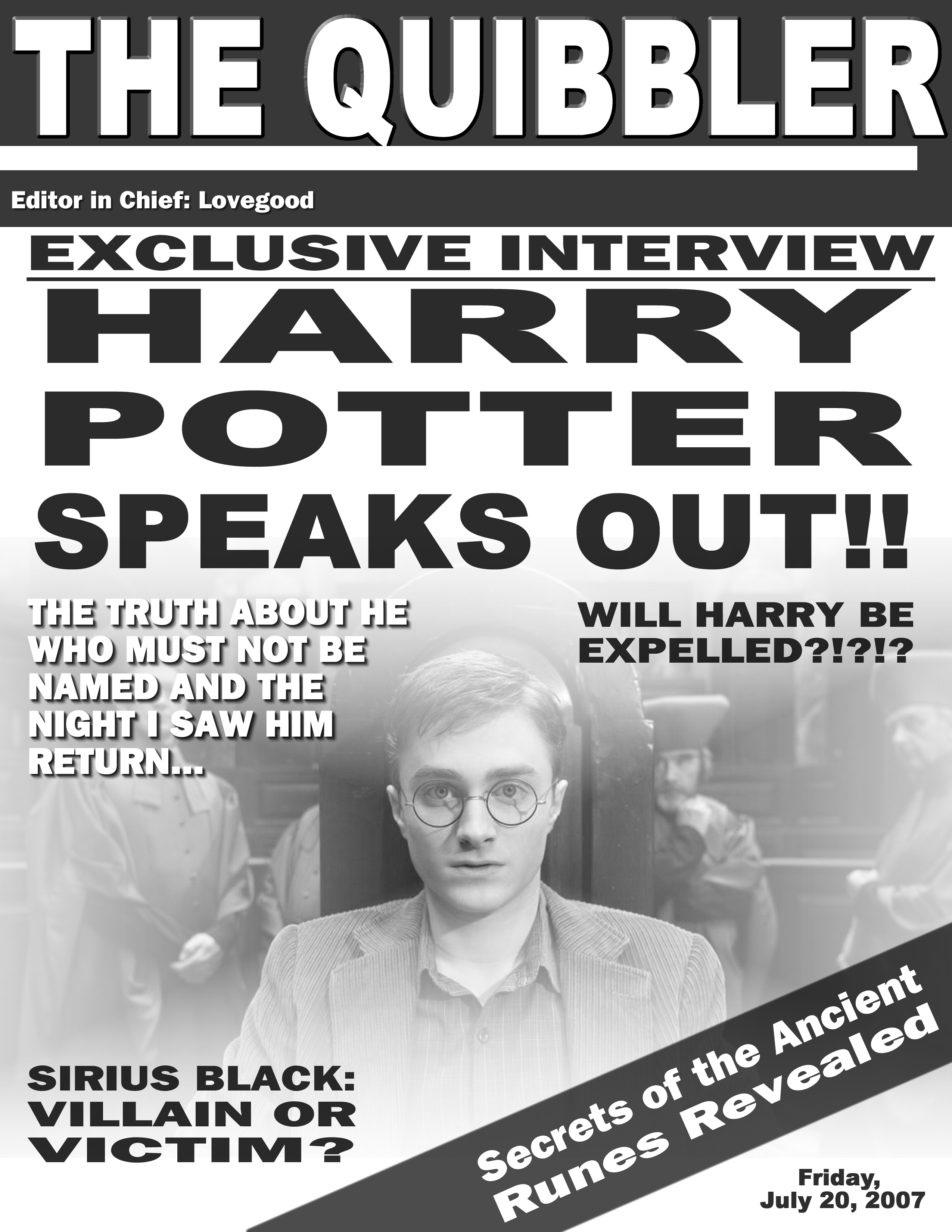 photograph about Quibbler Printable named harry-potter-the-quibbler Get hold of NutMegged ADHD