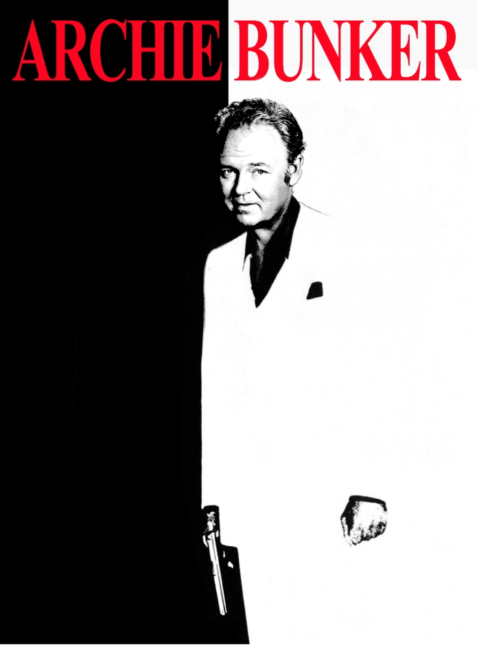 Archie Bunker as Scarface