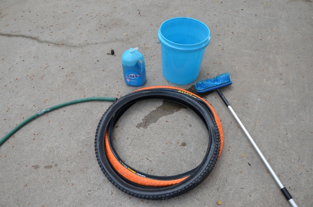DIY Upcycled Bicycle Tire Belts Step 1