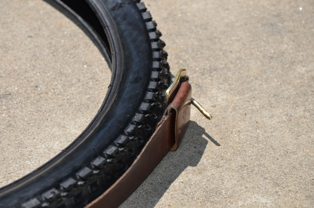 DIY Upcycled Bicycle Tire Belts Step 2