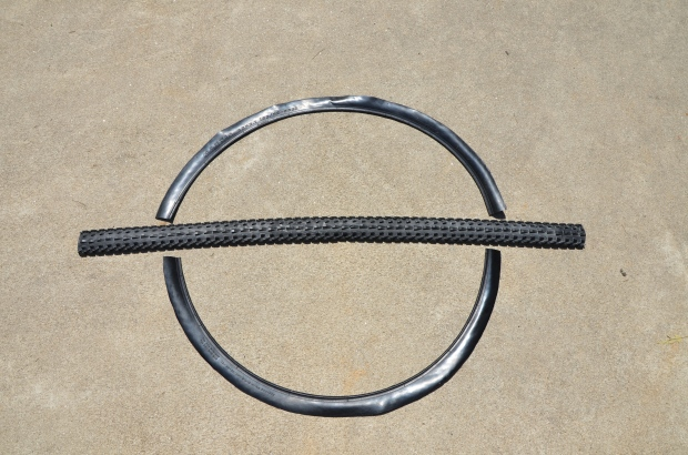 DIY Upcycled Bicycle Tire Belts Step 3