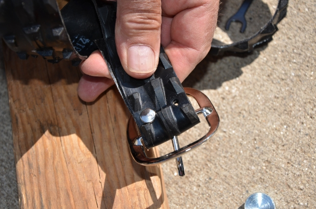 DIY Upcycled Bicycle Tire Belts Step 5