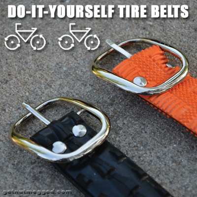 DIY Upcycled Bicycle Tire Belts Intro