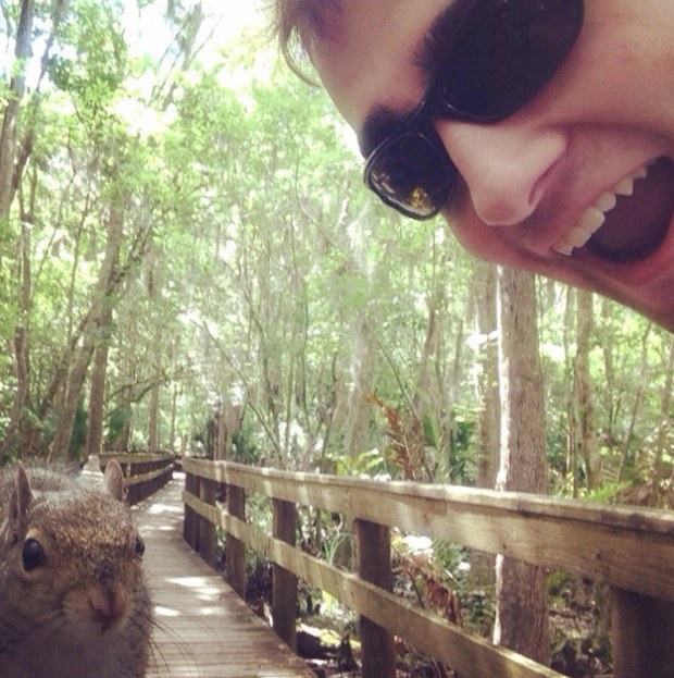 Squirrel Selfie Success