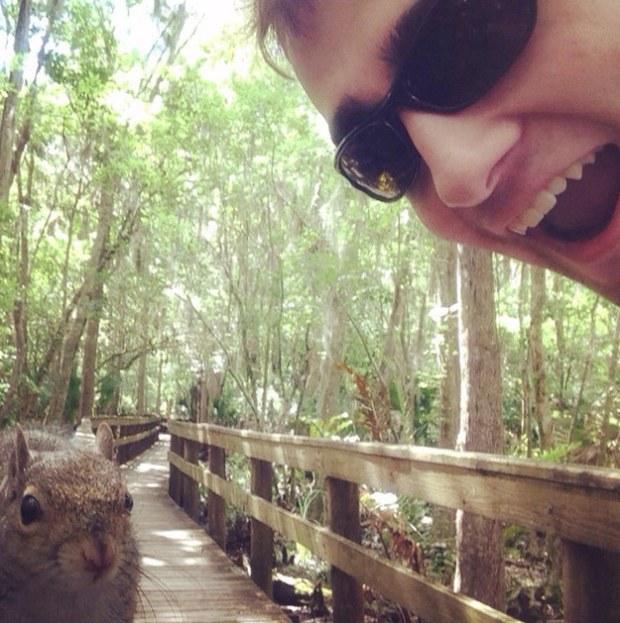 Squirrel Selfie Success